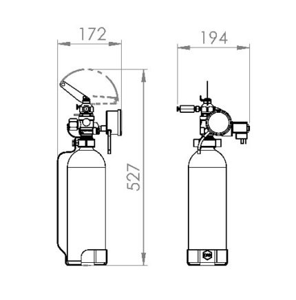 Pilot Cylinder Assembly Dimensions